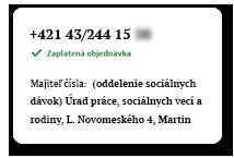 Majiteľ telefónneho čísla