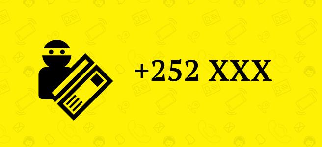 Telefónne číslo +252 SCAM