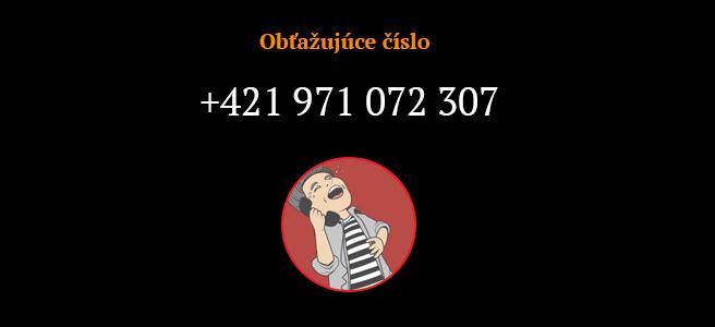 Telefónne číslo 0971072307