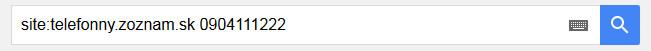 Google vyhľadávacia fráza